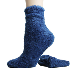 Foot Traffic Microfiber Fuzzy Socks Royal