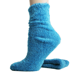 Foot Traffic Microfiber Fuzzy Socks Turquoise