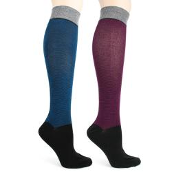 Pinstripe Knee Socks