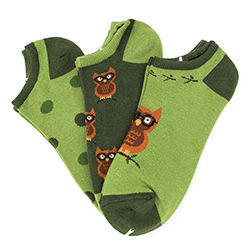 Owl No-Shows (3 pair pack)