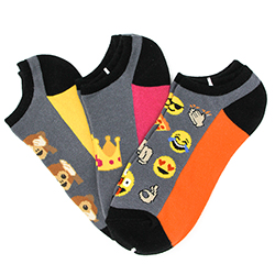 Emoji No Show Socks 3 Pack