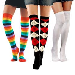 ff0d9861114 Pink Rainbow Stripe Toe Socks · Over-the-Knee Socks