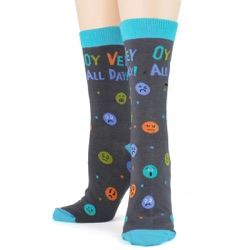 women's oy vey all day socks front view on mannequin