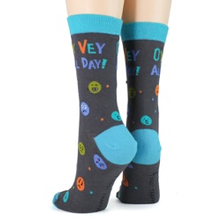 women's oy vey all day socks sideback view on mannequin