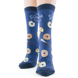 women's schmear and bagels socks front view on mannequin