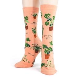 women's houseplants plant socks front view on mannequin
