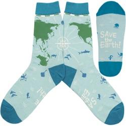 Save The Earth Womens Socks