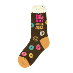 Donut Judge Me Women's Socks