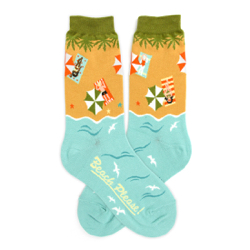Beach Please Women's Socks