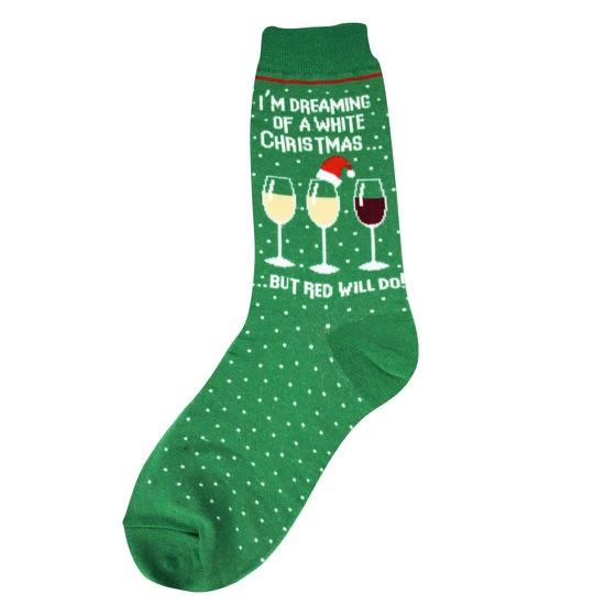 White Christmas Women's Socks