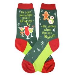 Santa Knows Women's Socks