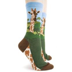 sidefront view of giraffe socks