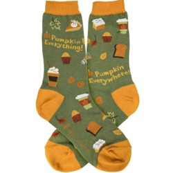 women's pumpkin everything fall autumn socks