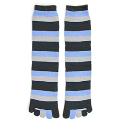 Denim Stripe Toe Socks