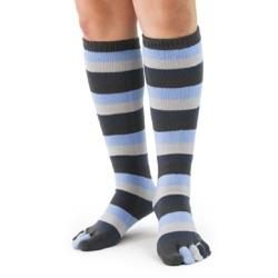 Denim Stripe Toe Socks