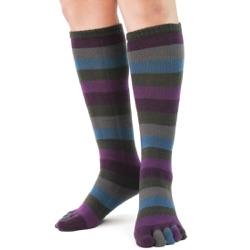 peacock toe socks front view on model