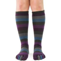 Peacock Stripe Toe Socks