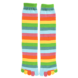 Citrus Stripe Toe Socks