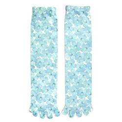 Blue Blossoms Toe Socks