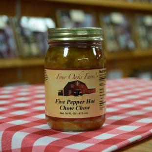 Chow Chow Five Pepper Hot 16 oz