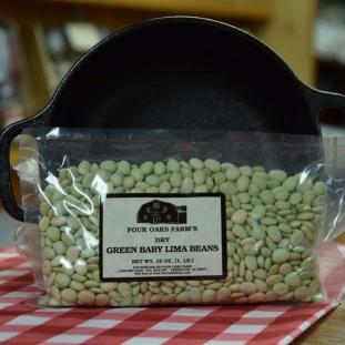 Dry Green Baby Limas 16 oz bag