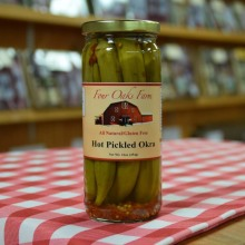 Hot Pickled Okra 16 oz