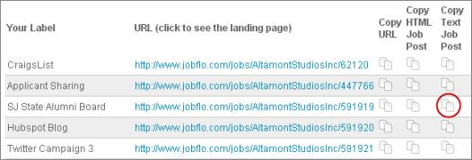 Copy Your Job Posting in Plain Text | JobFlo : JobFlo Help