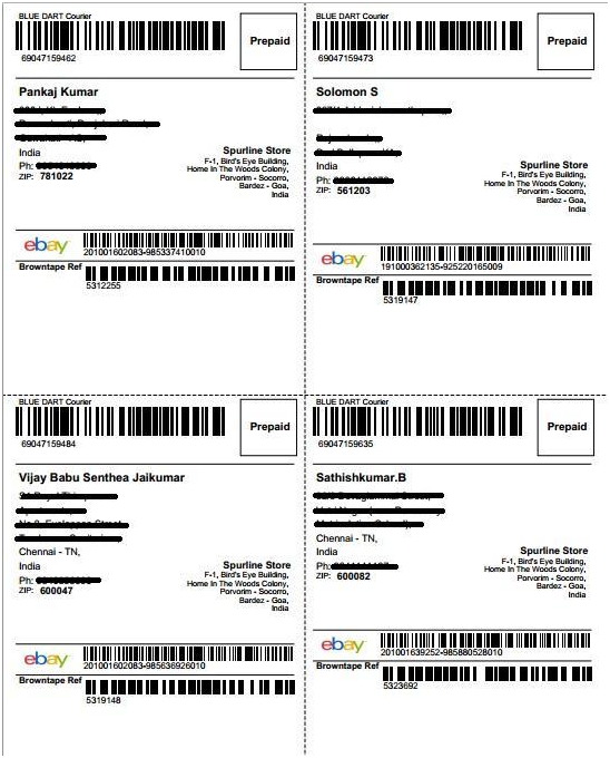 Types of shipping labels : Browntape Support