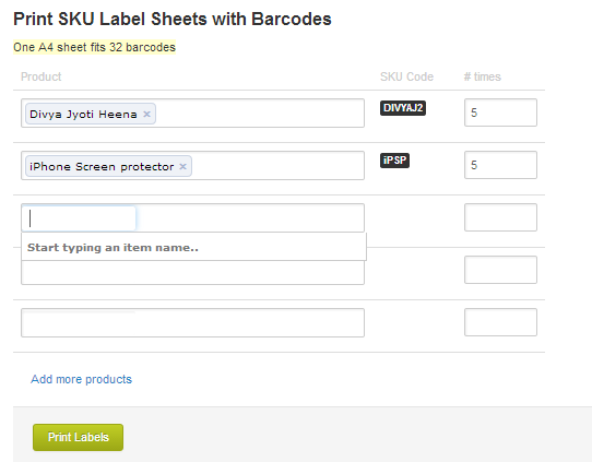 photo about Printable Label Sheets titled How in direction of print SKU Label Sheets with Barcodes upon Browntape