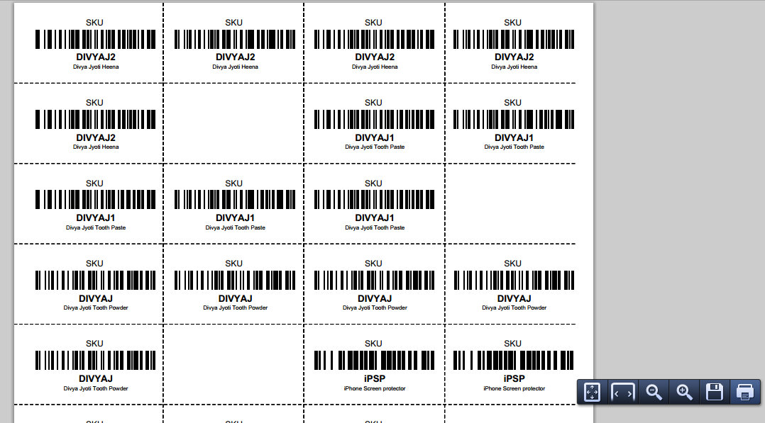 How to print SKU Label Sheets with Barcodes on Browntape