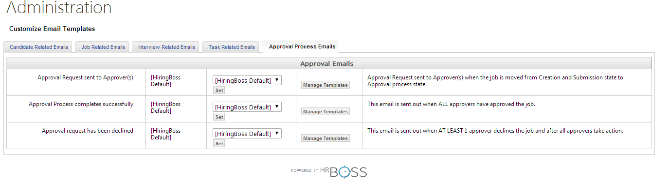 Defining The Job Approval Email Templates Supportboss