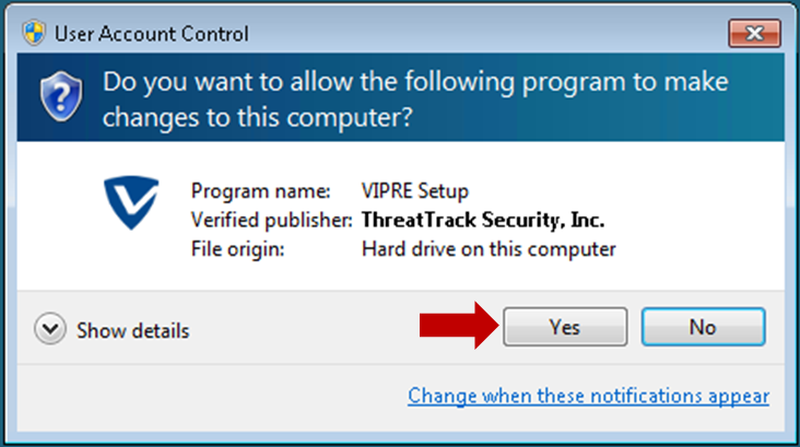 Vipre Software Update Notification Support