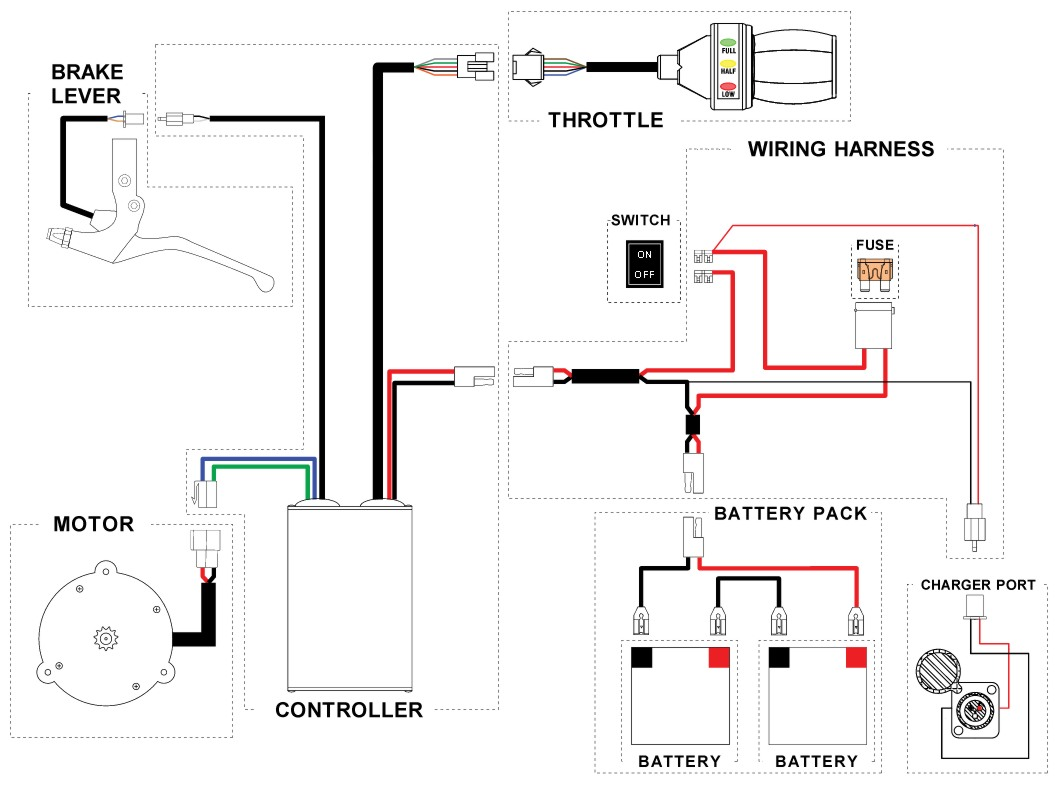 scooter wiring schematic electronic schematics collections