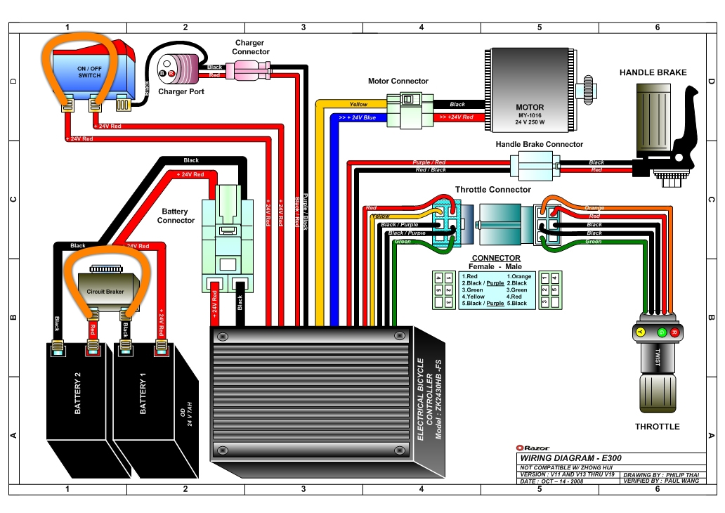 razor electric motorcycle wiring diagram razor e300 electric scooter wiring diagram razor scooter 325 will not move with any weight ... #15