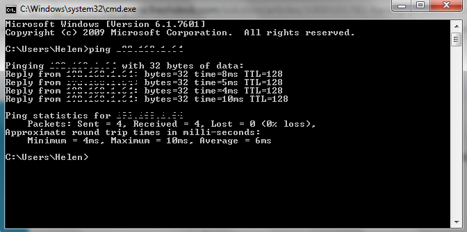How to do a DOS Command Prompt Ping to VoIP IP Address