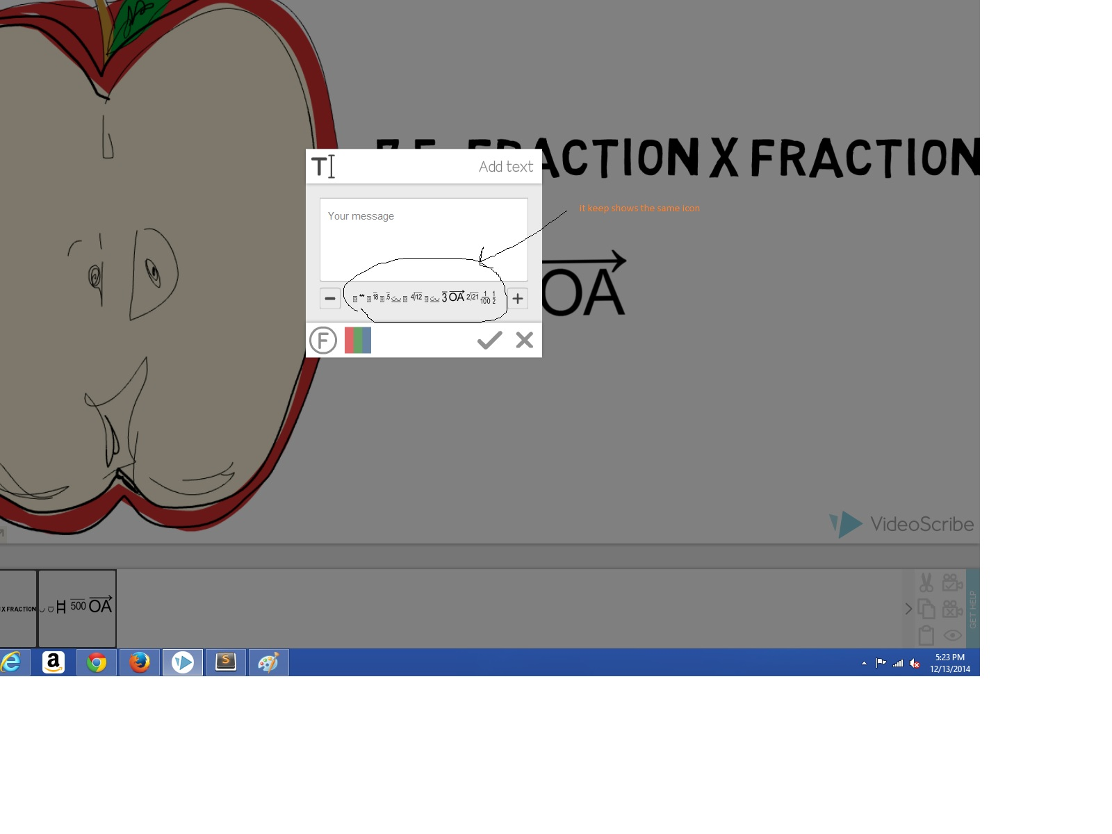 How to use mathmatical term videoscribe to switch to a different font try clicking the plus or minus symbols in the text menu they are on the left and right sides of the font name which you buycottarizona