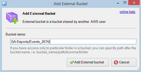 S3 Browser Add External Bucket