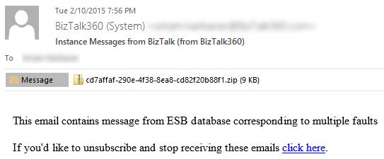 email biztalk instance messages