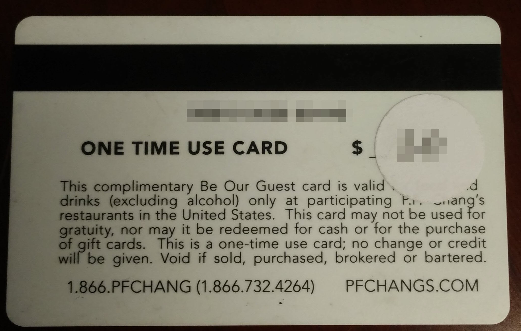 P.F. Chang's Be our Guest Card - Not Accepted : GiftCardBin ...