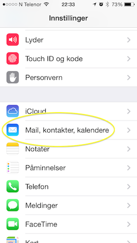 Sette opp Office 365-mail på iPhone : Dynamic Operations AS