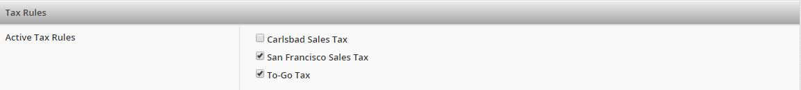 Tax Rules