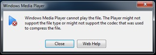 Windows Media Player will not play recorded 4k files