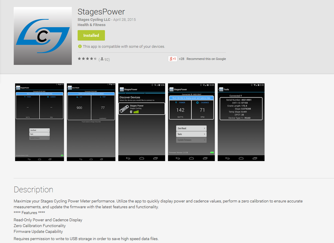 StagesPower in the Google Play store