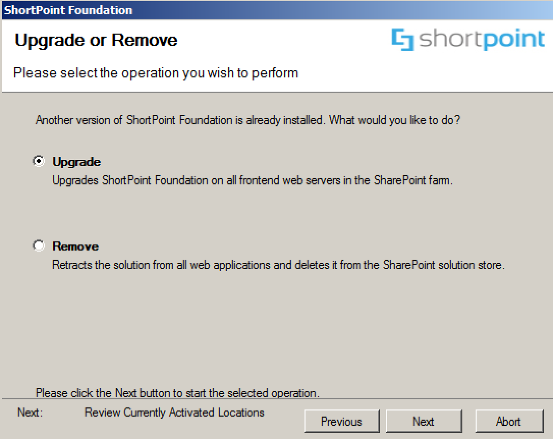 Upgrade ShortPoint for SharePoint Server
