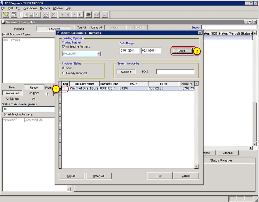 Matching Items and Importing Invoices from QuickBooks