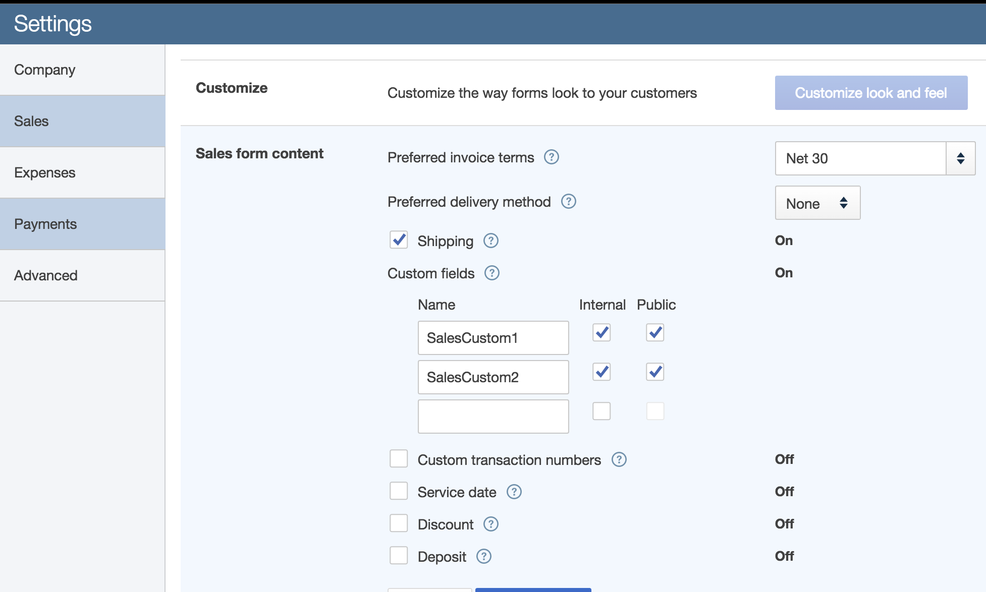 Custom Fields Are Not Showing Up For QuickBooks Invoice Workato - Quickbooks online invoice deposit