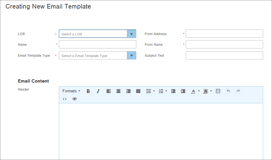 Create Email Confirmation Template Infoplus Support - Set up email template