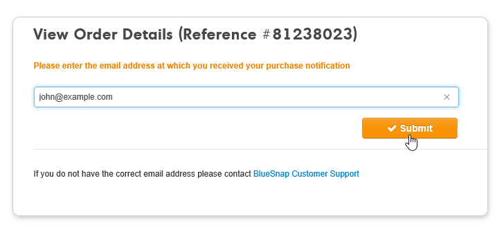 how to get an invoice from bluesnap