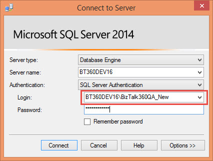 microsoft sql server 2014 login details