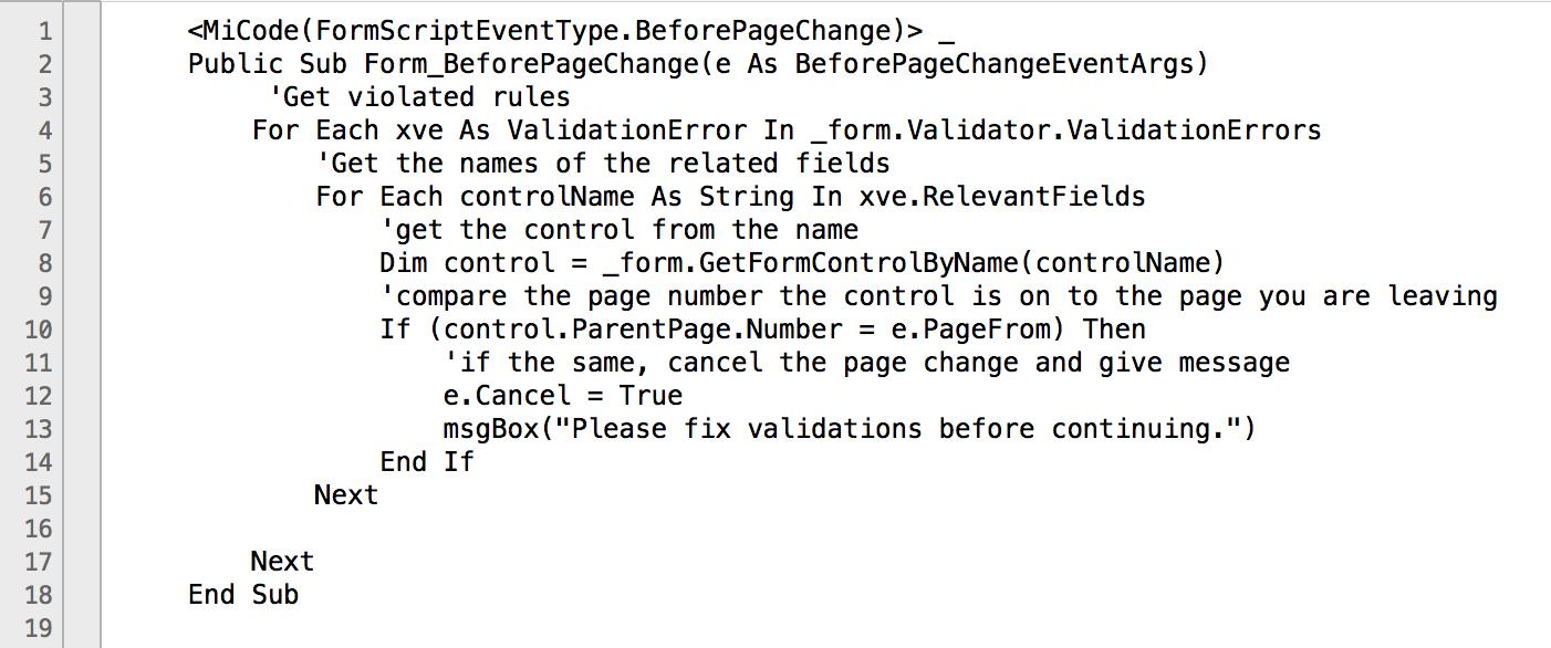 ValidationScriptExample